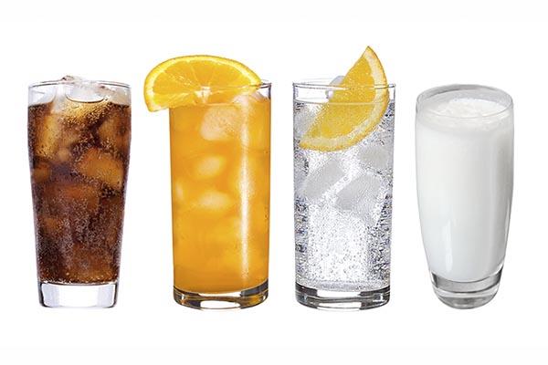 соки, минералка, лимонады
